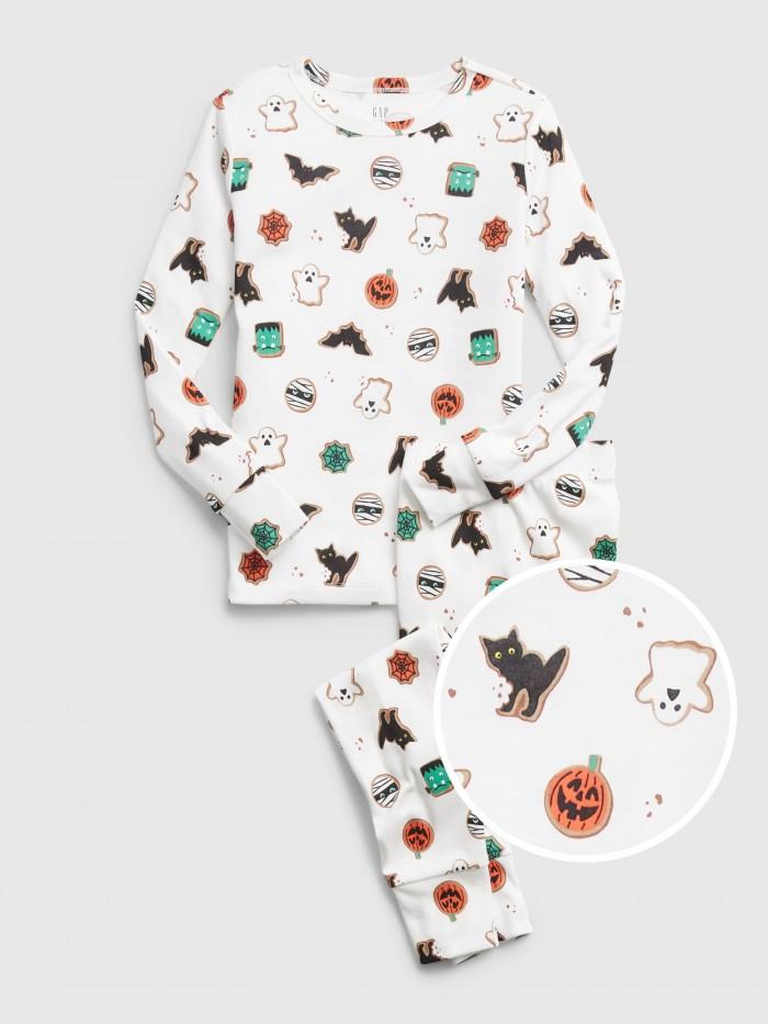 Halloween pajamas on white background