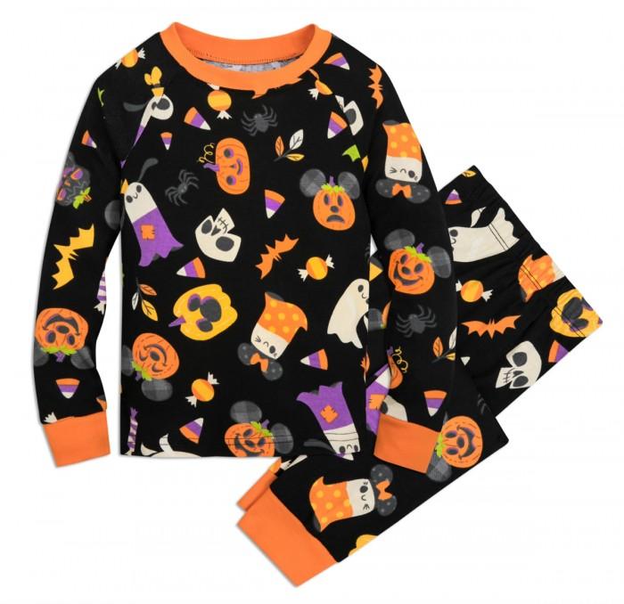 Mickey pumpkin pajamas on white background
