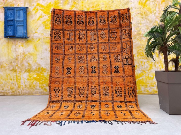 Orange Boujad Moroccan Rug