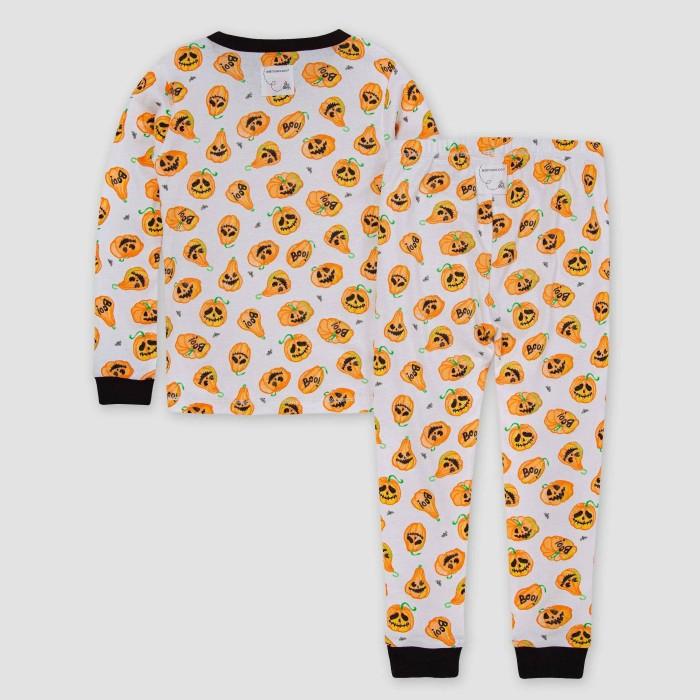Pumpkin Pajamas with Black Cuffs