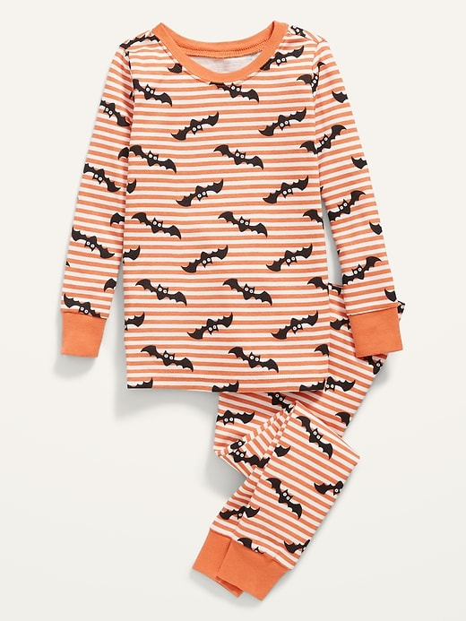 stripe bat pajamas on white background