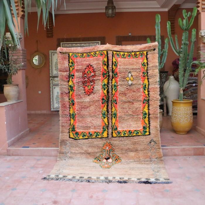 Unique Vintage Moroccan Rug