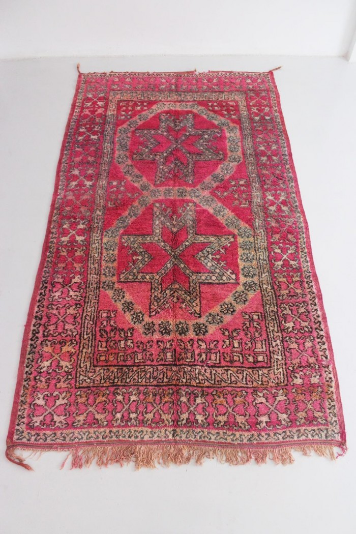 Vintage Fuchsia Moroccan Rug