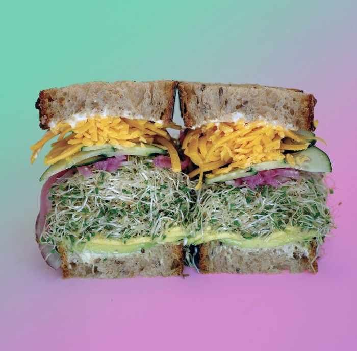 Ira Glass Vegetarian sandwich from Wax paper