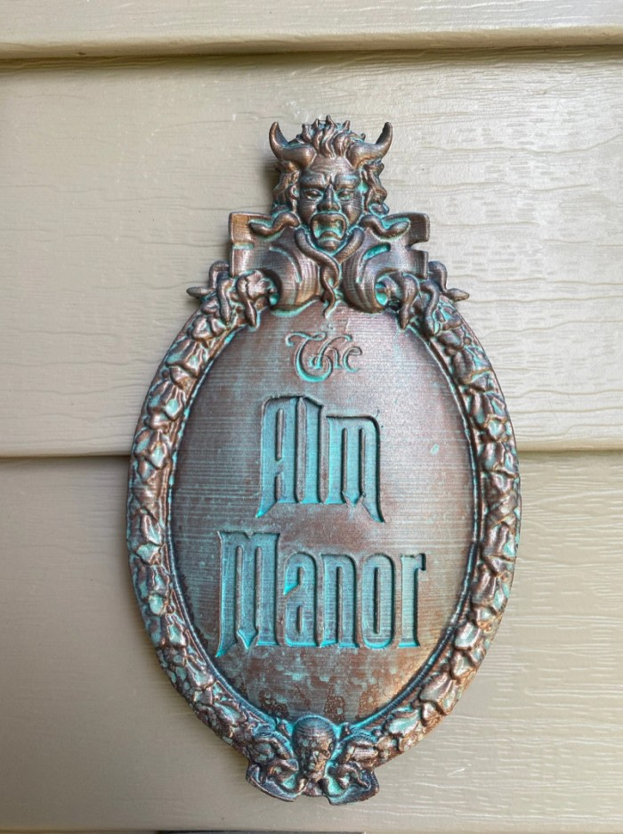 Haunted Mansion inspired plaque