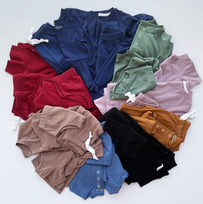 Kids clothing laying in a circle