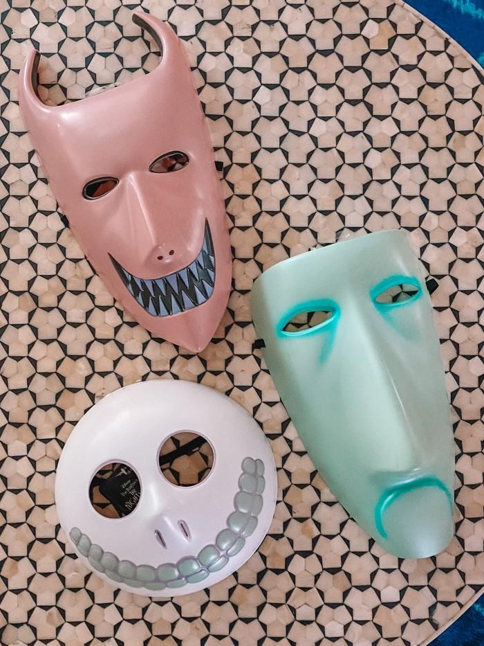 Lock Shock & Barrel Masks on a Table