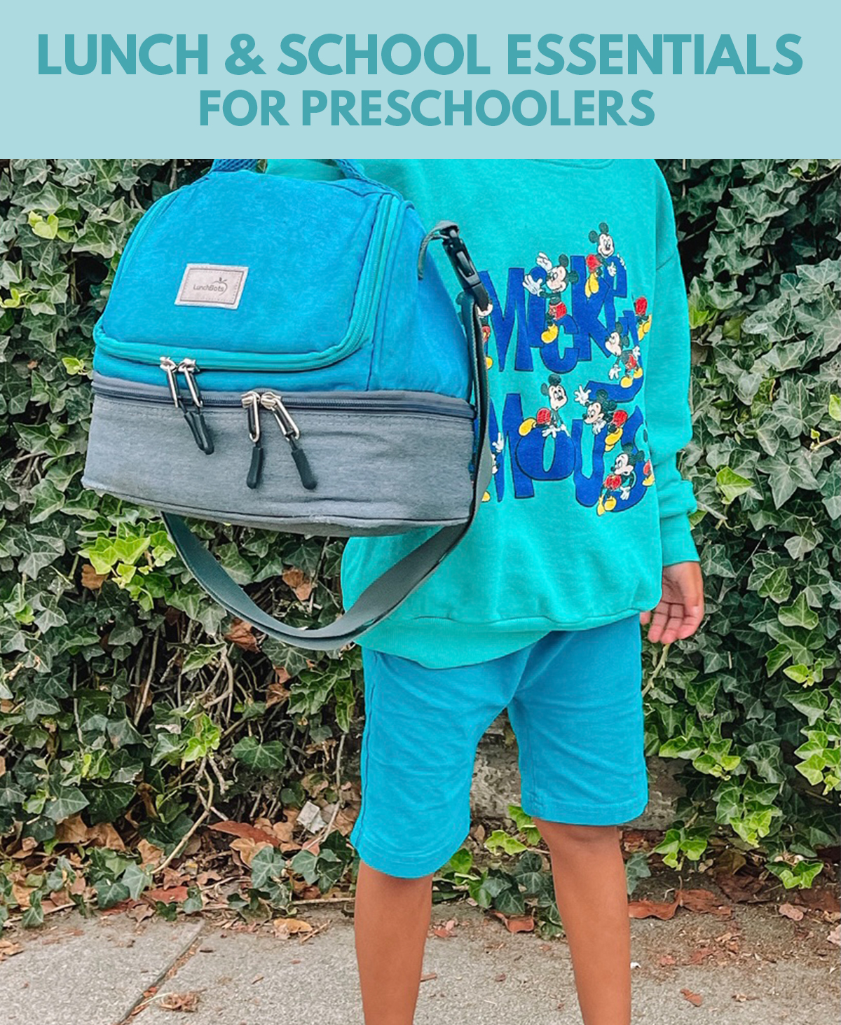 Our favorite lunch box, water bottle, school clothes, masks and more for our preschooler!