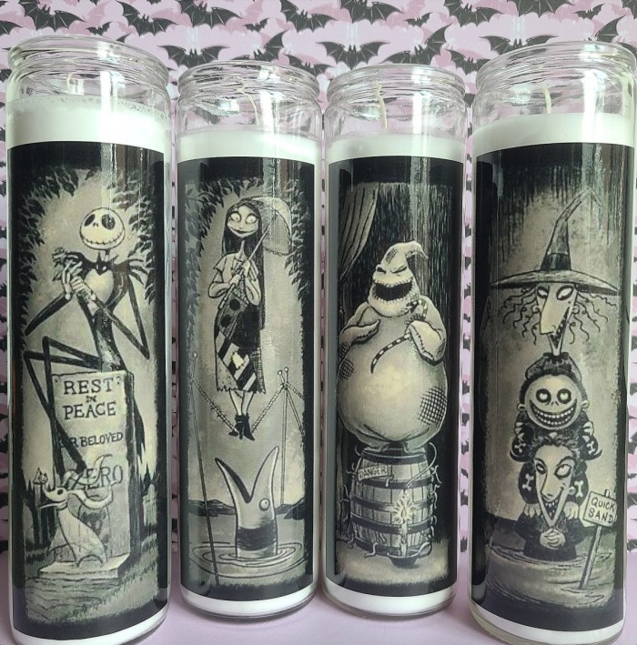 Nightmare before christmas tall candles