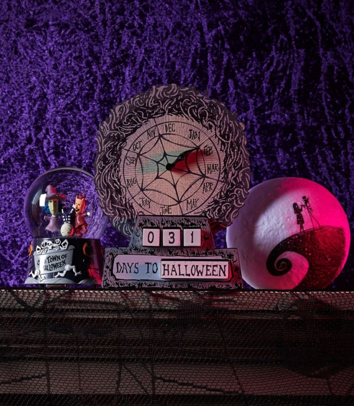 Nightmare Before Christmas Countdown Clock on a mantle