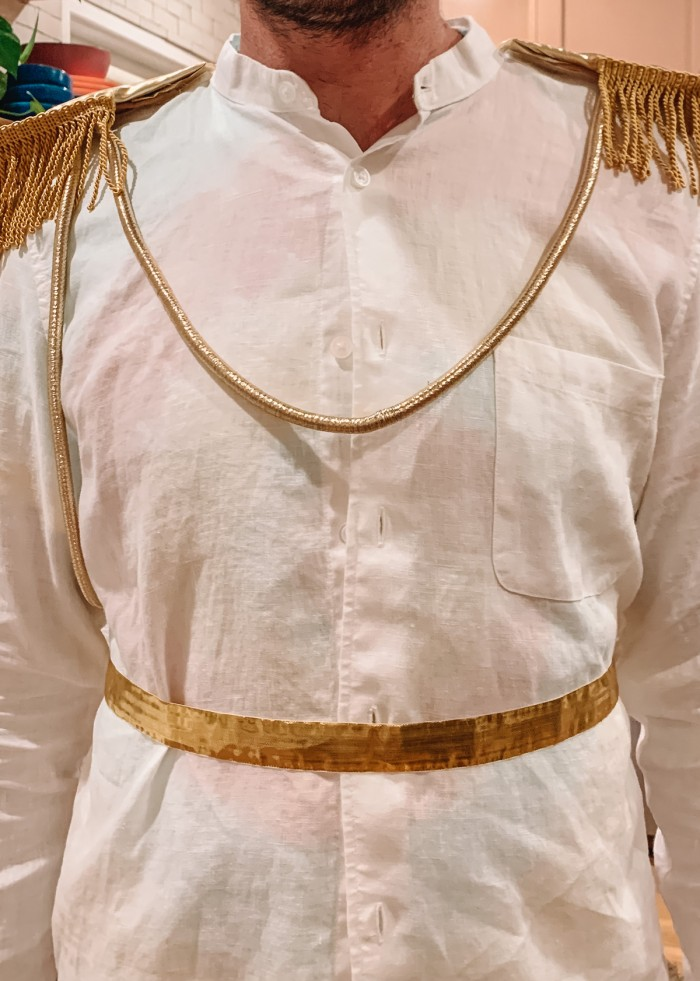 Prince Charming costume close up