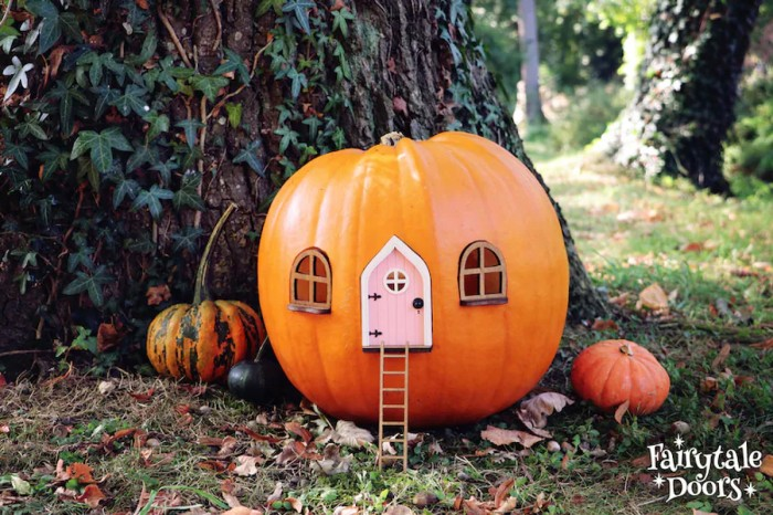 Pumpkin Fairy Door House Set