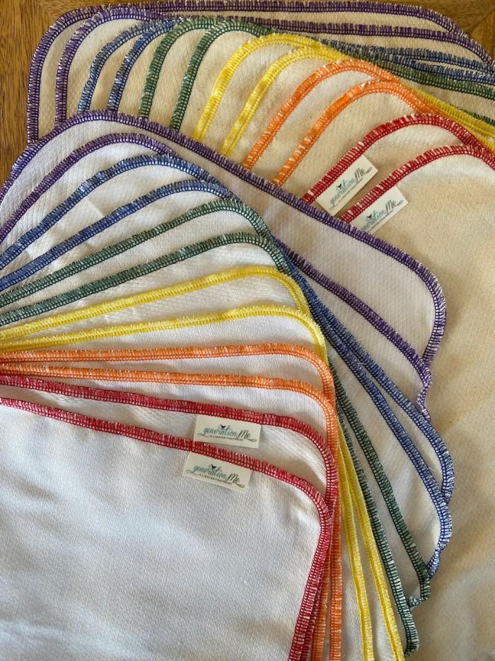 unpaper towels with rainbow edges
